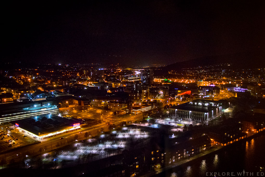 View from Grape & Olive, Wales Tallest Building