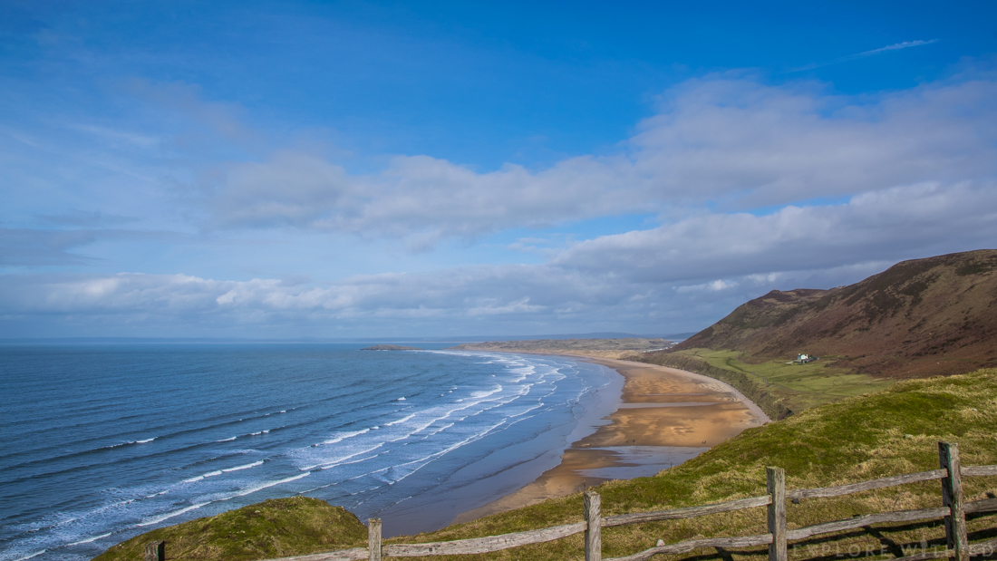 Rhossili Bay beach Swansea Gower