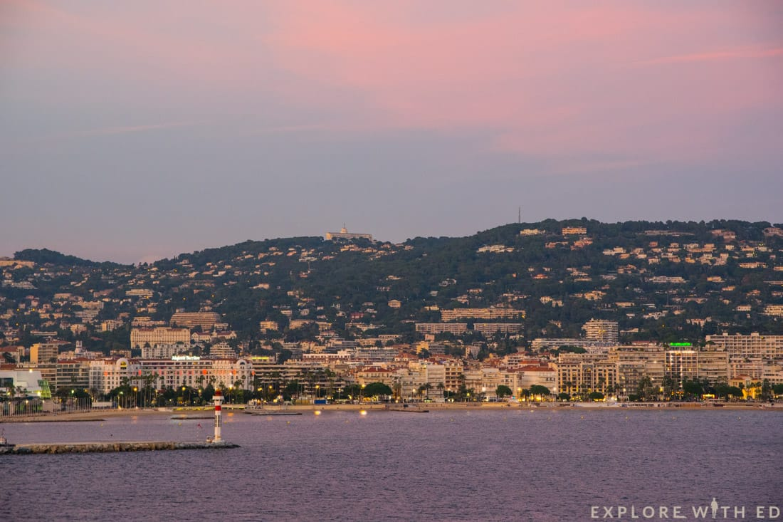 Cannes coastline, French Riviera, Norwegian Epic