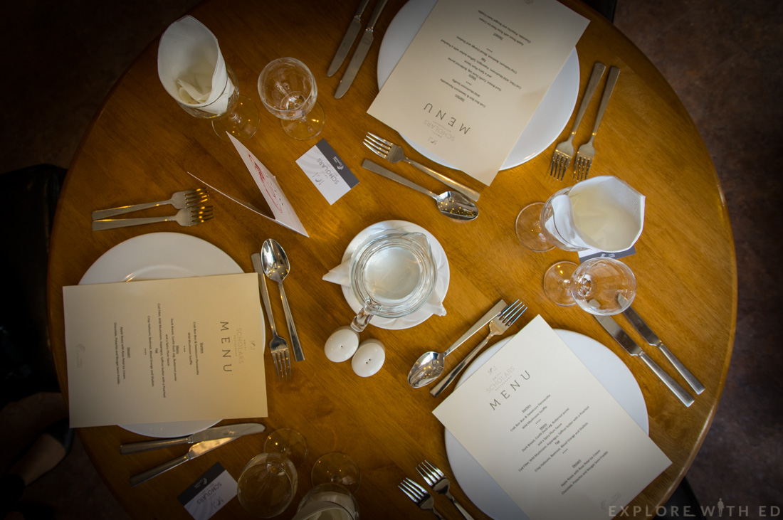 Scholar Restaurant Table, Review, Coleg y Cymoedd