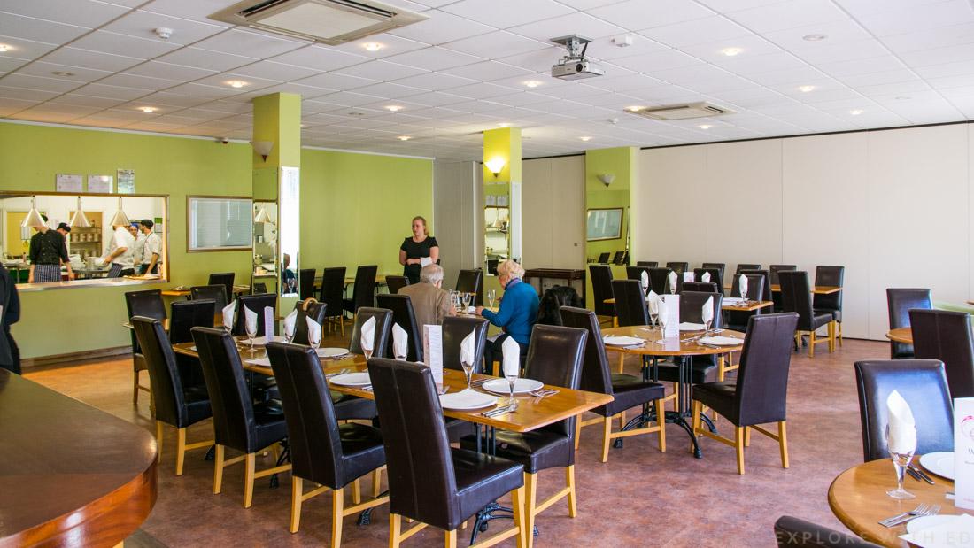 Scholar Restaurant interior, Coleg y Cymoedd