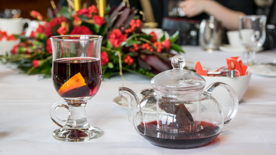 Mulled wine, tea pot, Christmas at the Celtic Manor