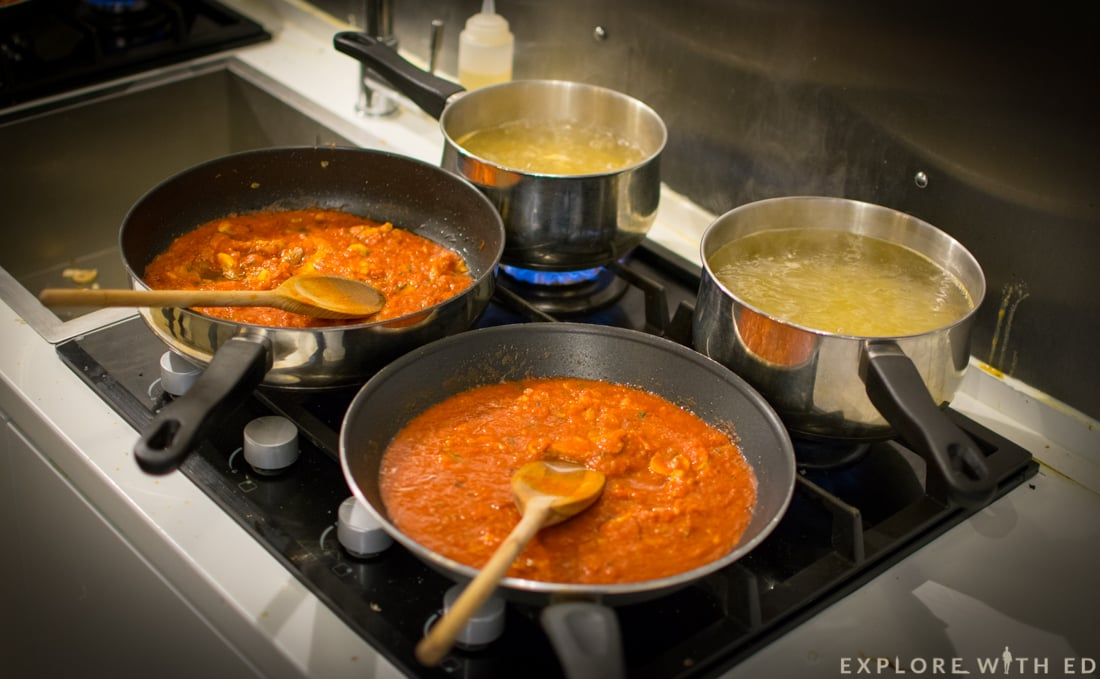 Pasta masterclass at Giovanni's Cookery School Cardiff