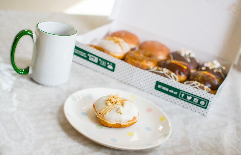 Krispy Kreme Salted Caramel Cheesecake Doughnut