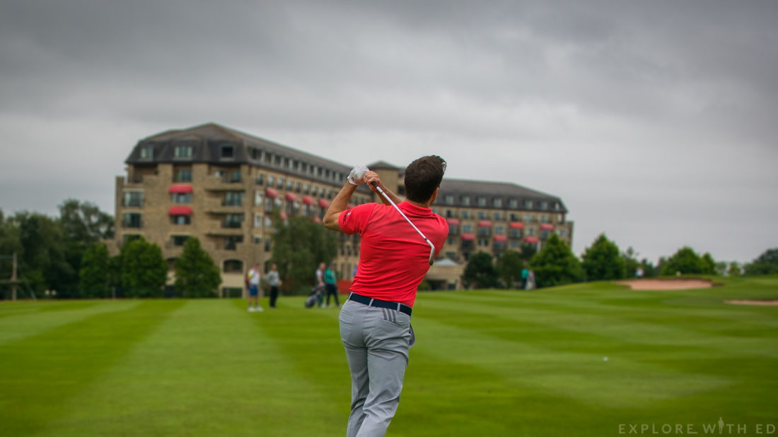 Gethin Jones at The Celtic Manor Celeb Cup