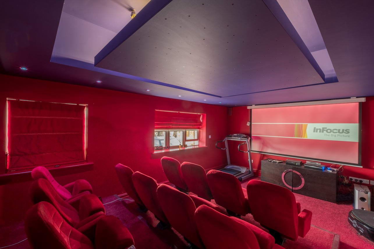 East Afton Farm house Cinema Room