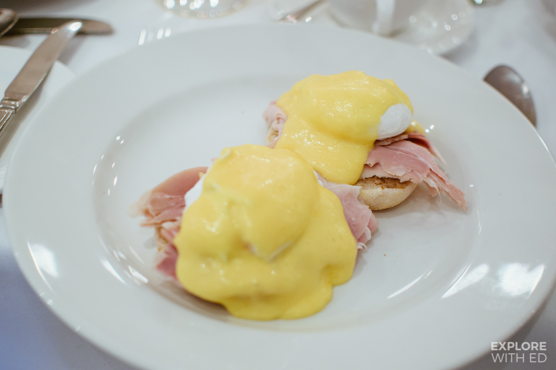 Eggs benedict, Breakfast at The Angel Hotel in Abergavenny