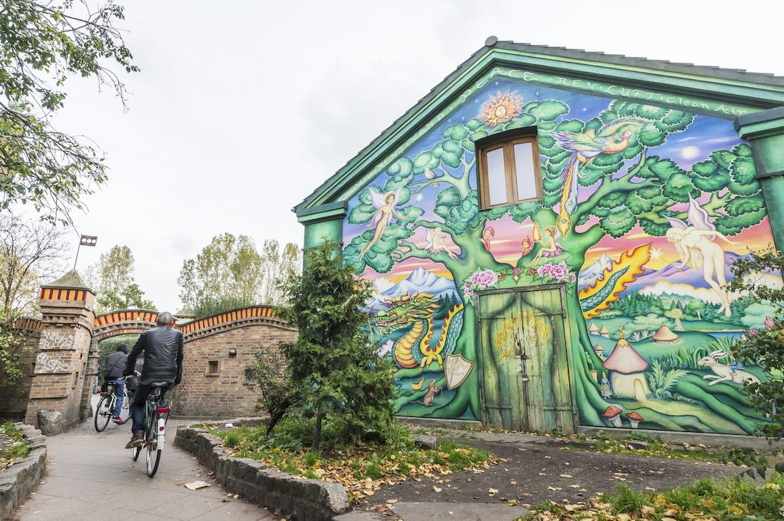 Eco-friendly, car-free neighbourhood, Alternative Christiania, Hippy culture