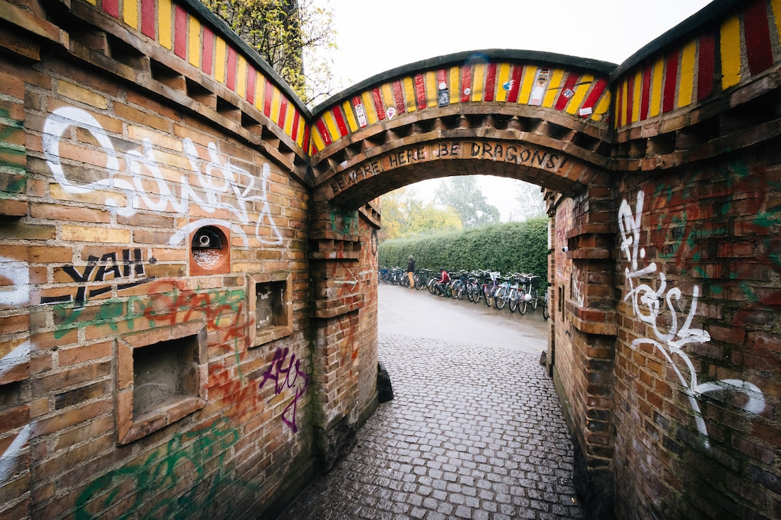 Alternative Christiania Graffiti, Hippy scene in Copenhagen, Quirky finds in Copenhagen