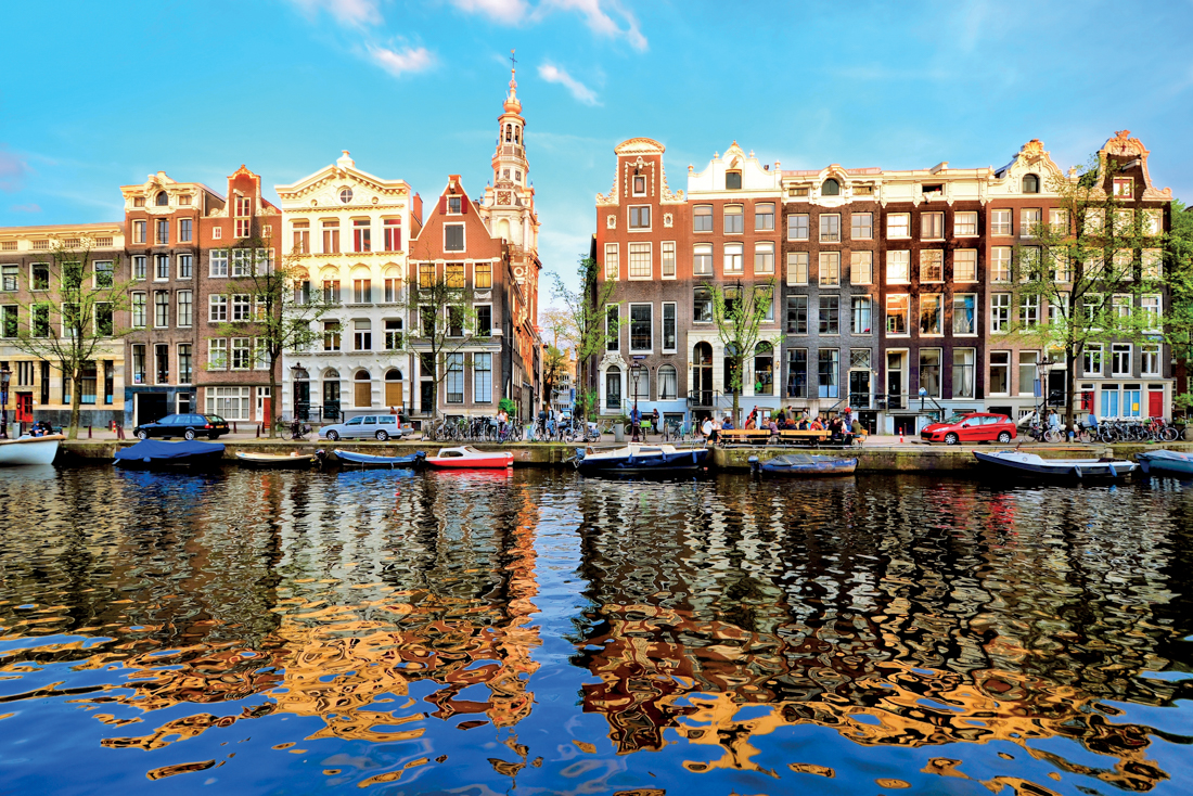 Amsterdam Stock Image from River Cruise Line