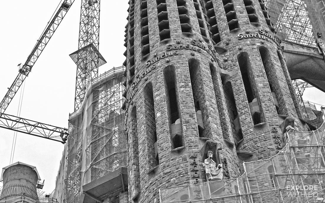 Completed Sagrada Família sculptures