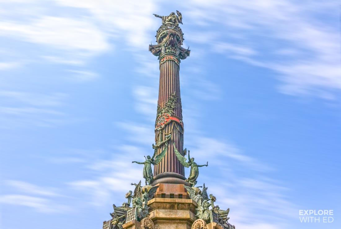 Columbus Column Monument in Barcelona, Statue near La Rambla