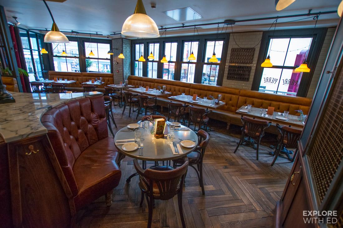Classic Parisian Bistro interior design at Bistrot Pierres in Cardiff