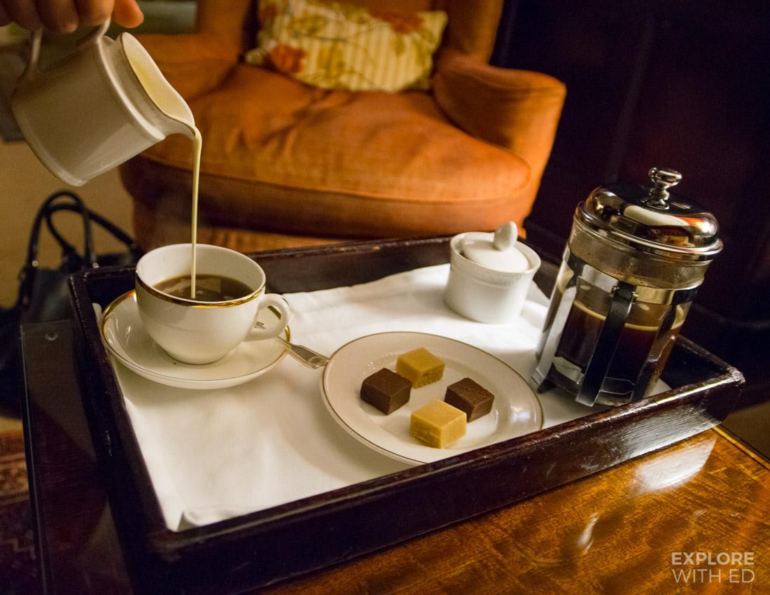Coffee at Bodysgallen Hall