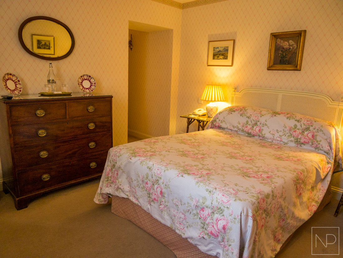 Country cute bedroom with antique furnishings