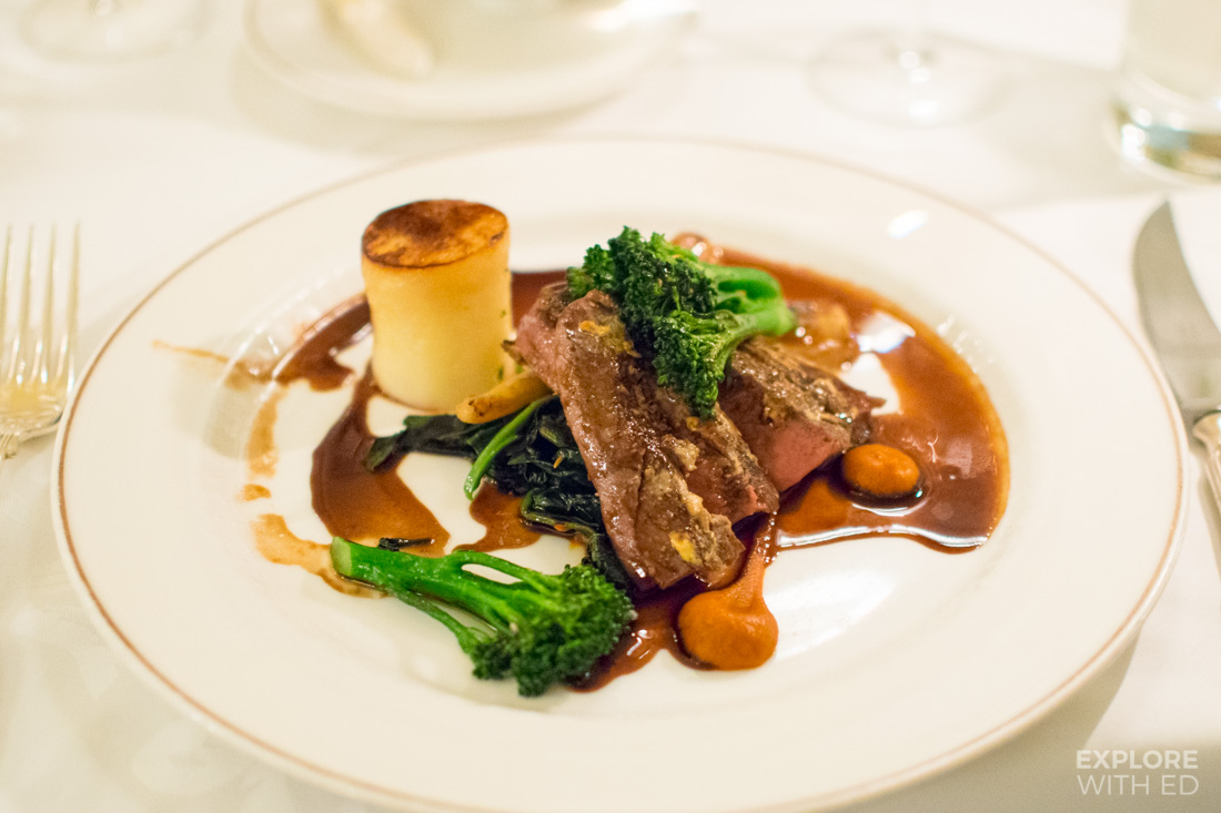 Lamb dinner at Bodysgallen Hall and Spa