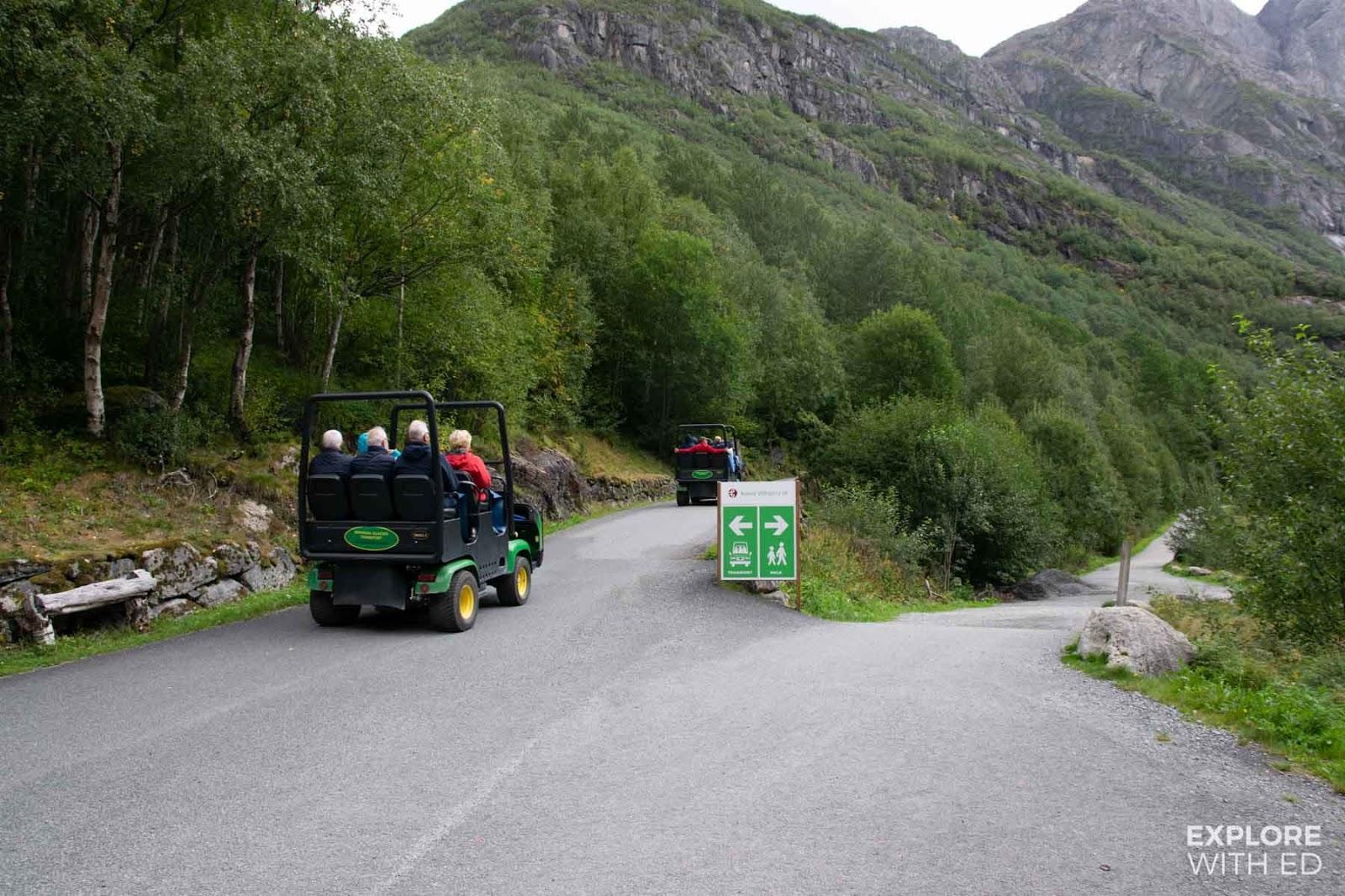 Troll-car to Briksdal Glacier