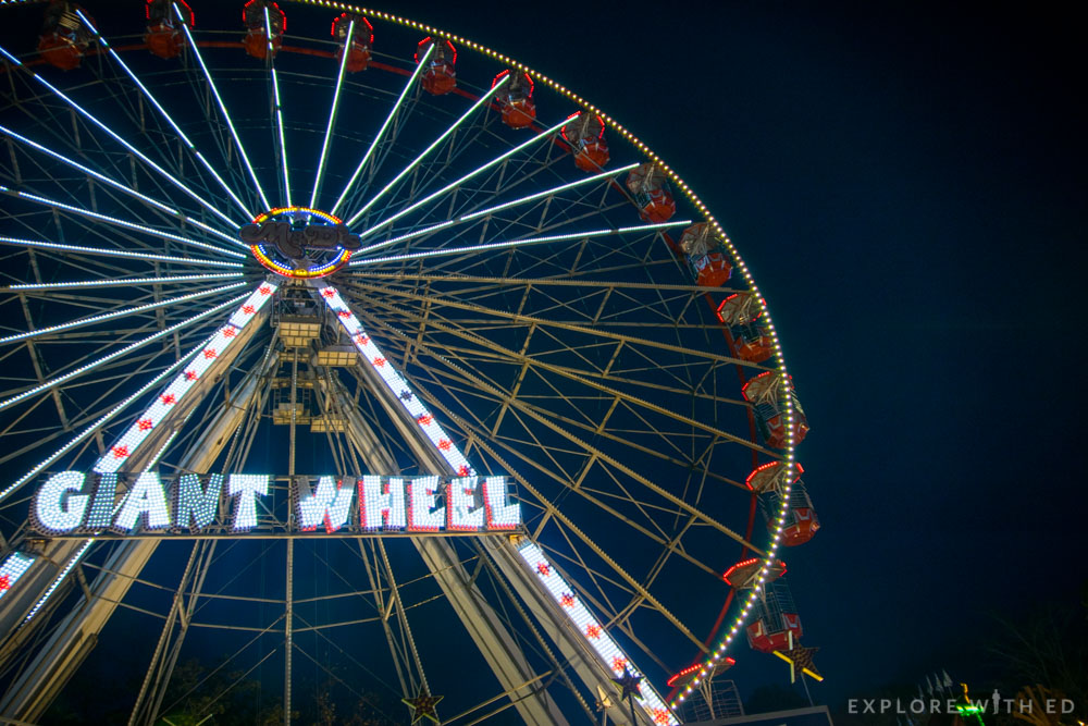 The Giant Ferris Wheel in Cardiff