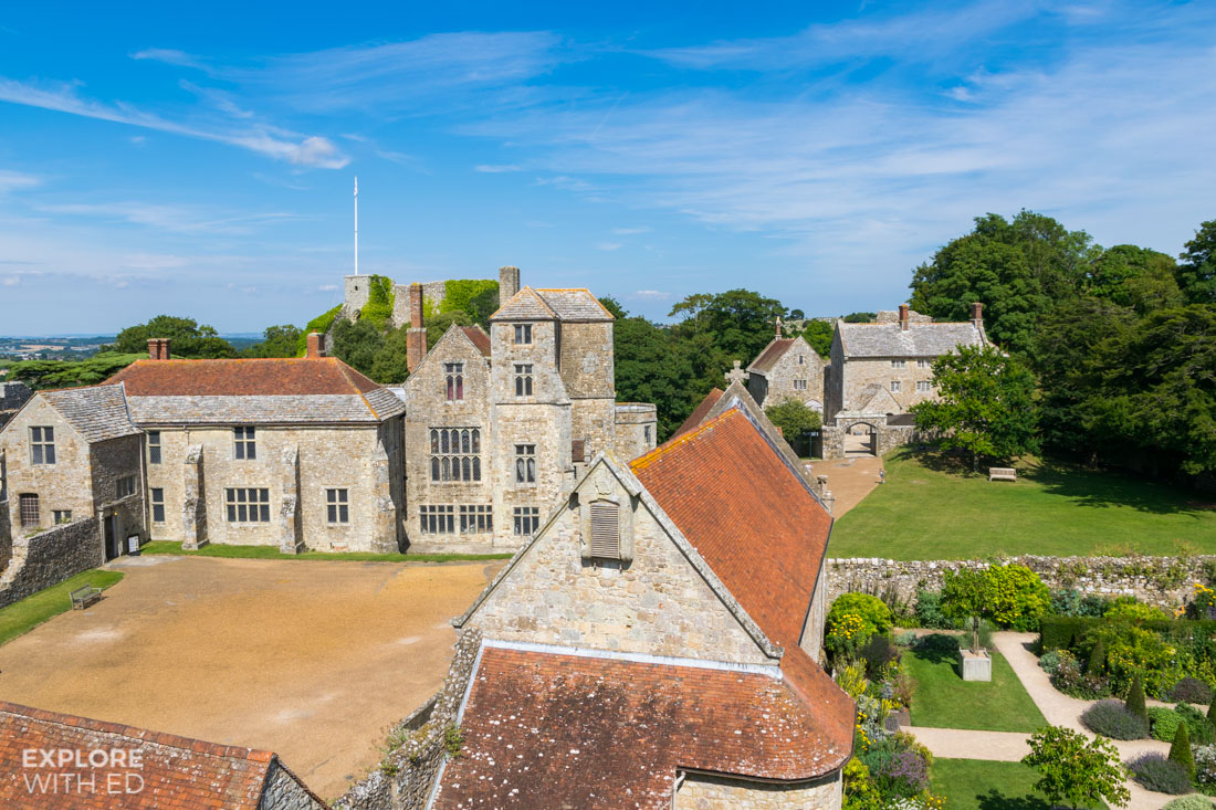 Carisbrooke Castle Courtyard and Keep