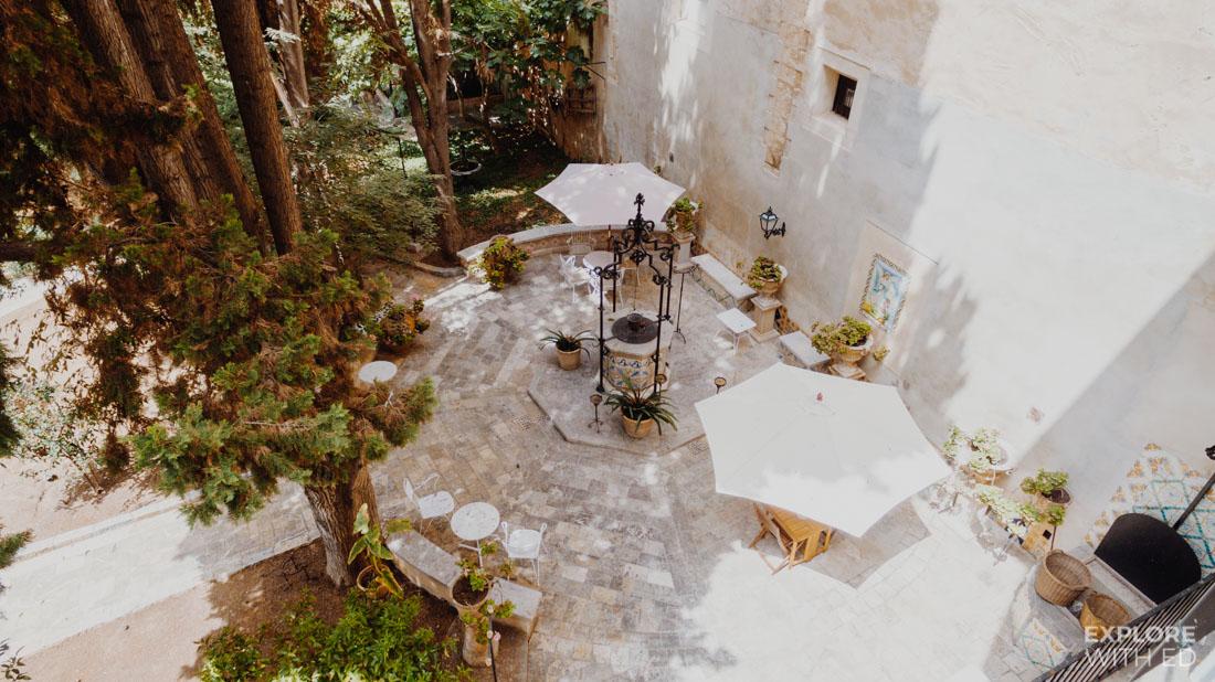 Casa Delmonte Garden area
