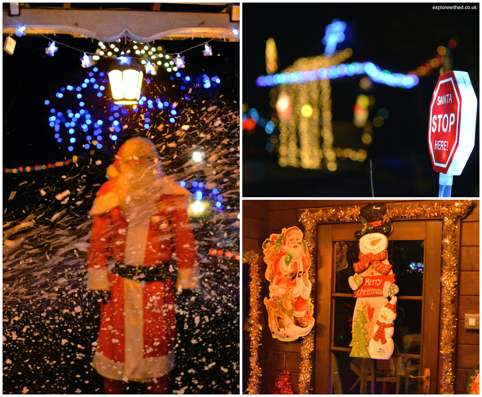 Santa and snow machine
