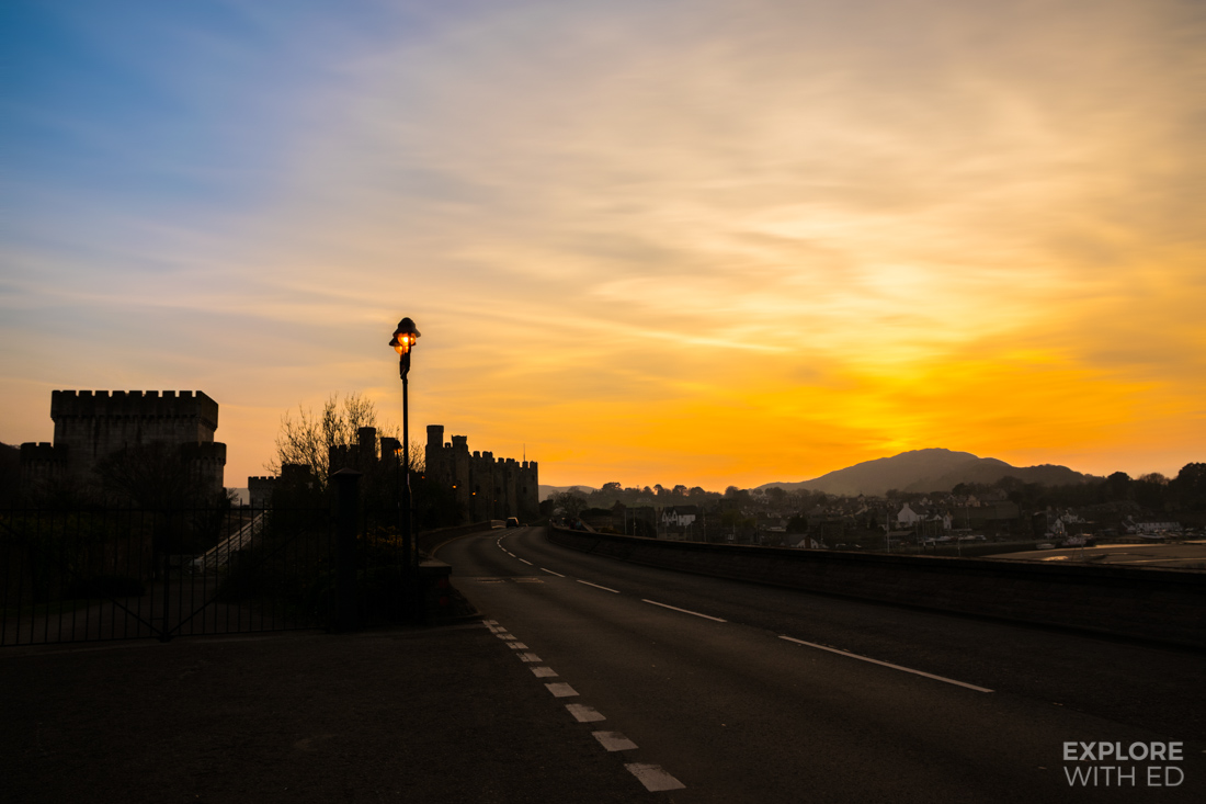 Sunset over Conwy Castle