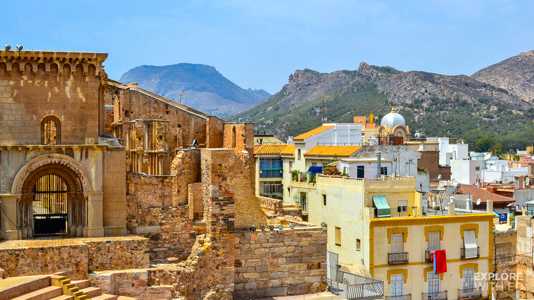 Roman Amphitheatre remains in Cartagena Spain