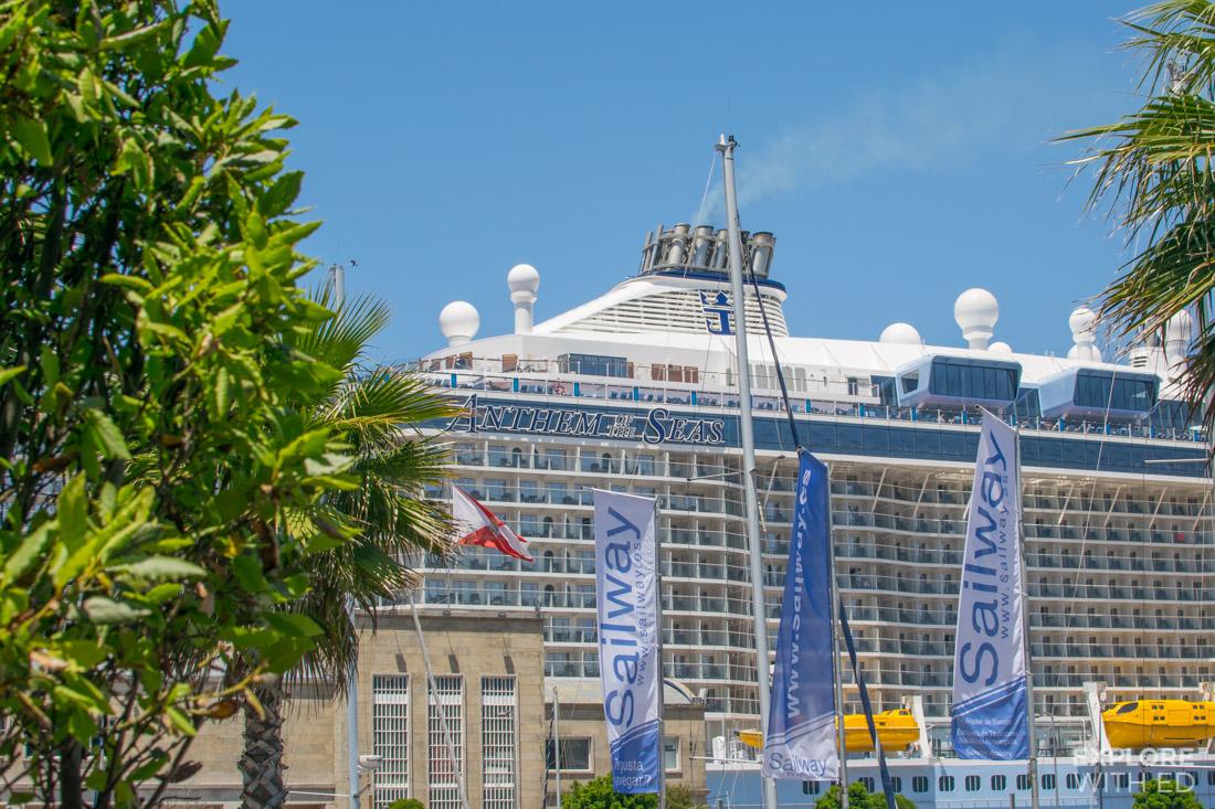Anthem of the Seas docked in Vigo Spain