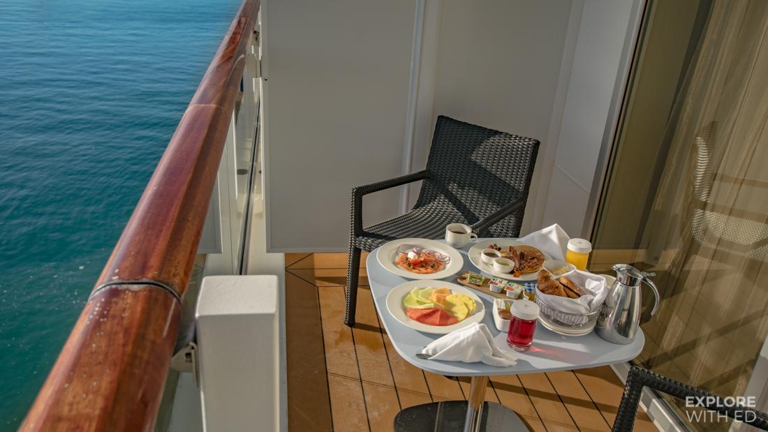 Room service on Viking Cruises on a private veranda
