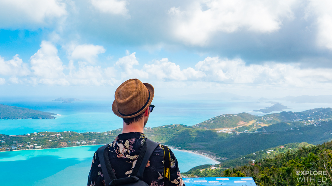 View over St. Thomas and the British Virgin Islands