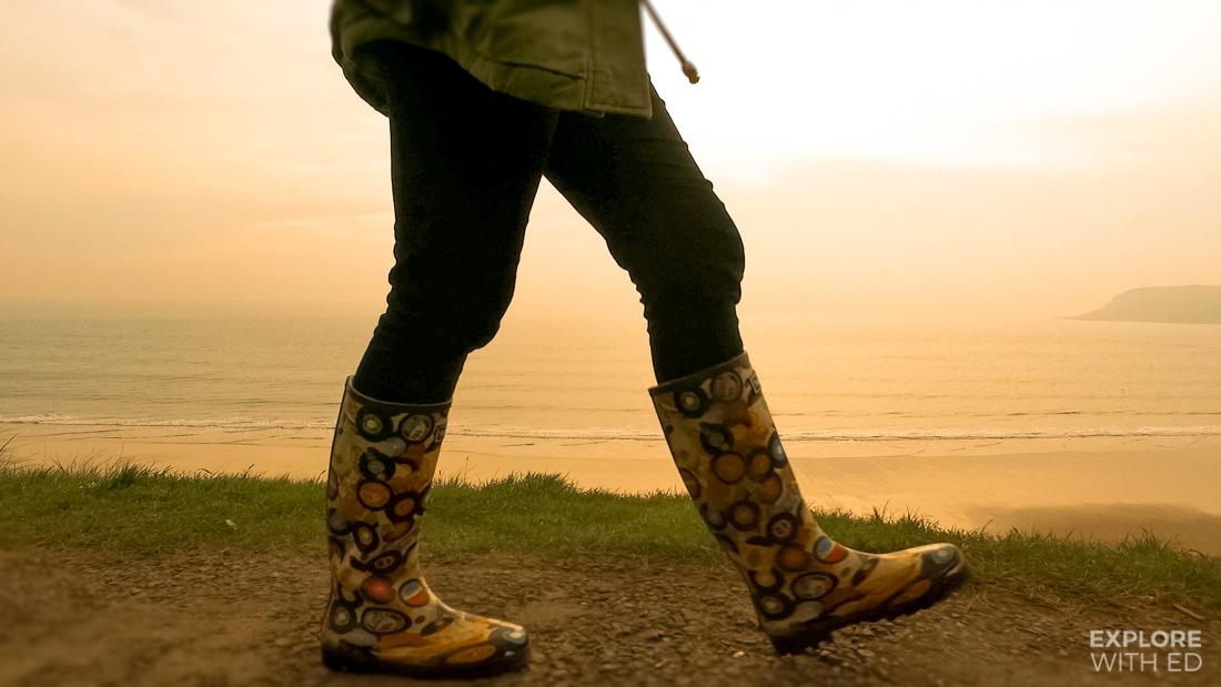 Walking the Wales Coast Path in Caswell Bay, Gower, Swansea