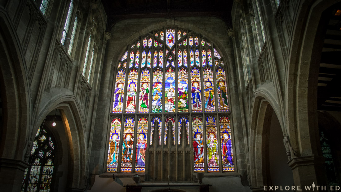 Stained glass church window, Stratford-Upon-Avon