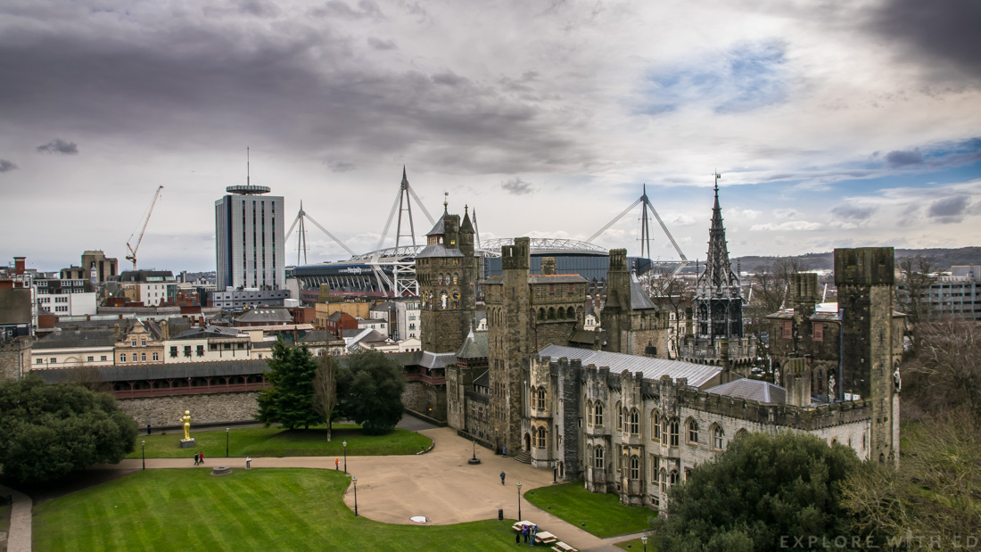 View from Norman Keep, Cardiff Castle