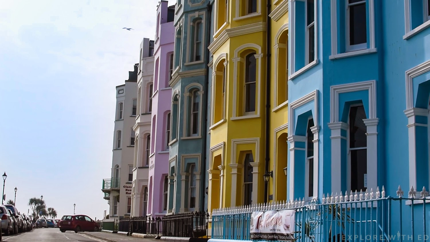 Colourful sea view Victorian Hotels and B&Bs in Tenby