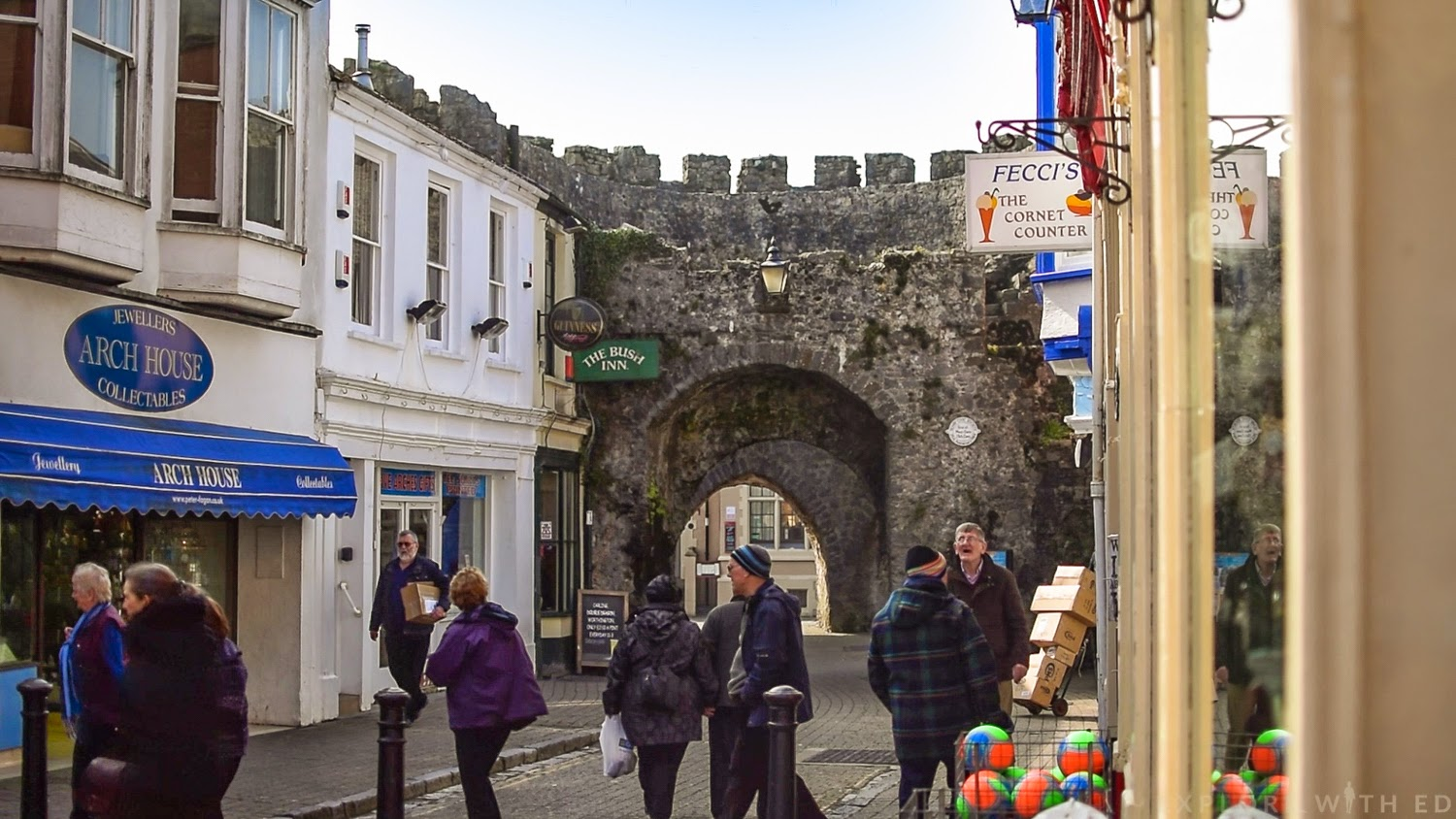 Tenby Five Arches Fortress and High Street