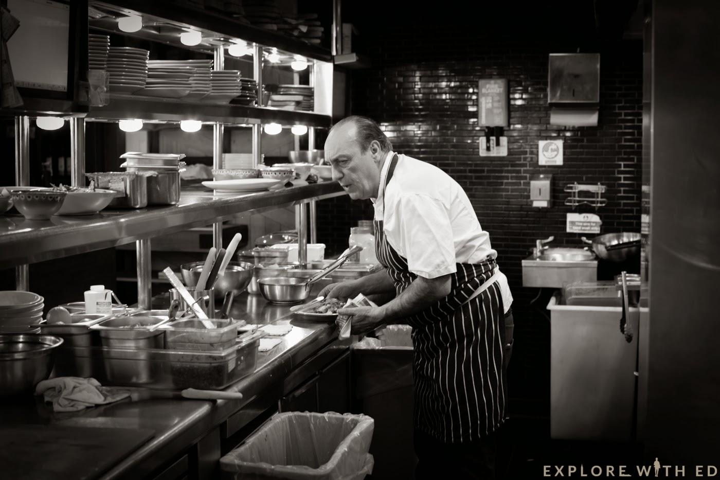 Gennaro Contaldo cooking Jamie's Italian, Cardiff