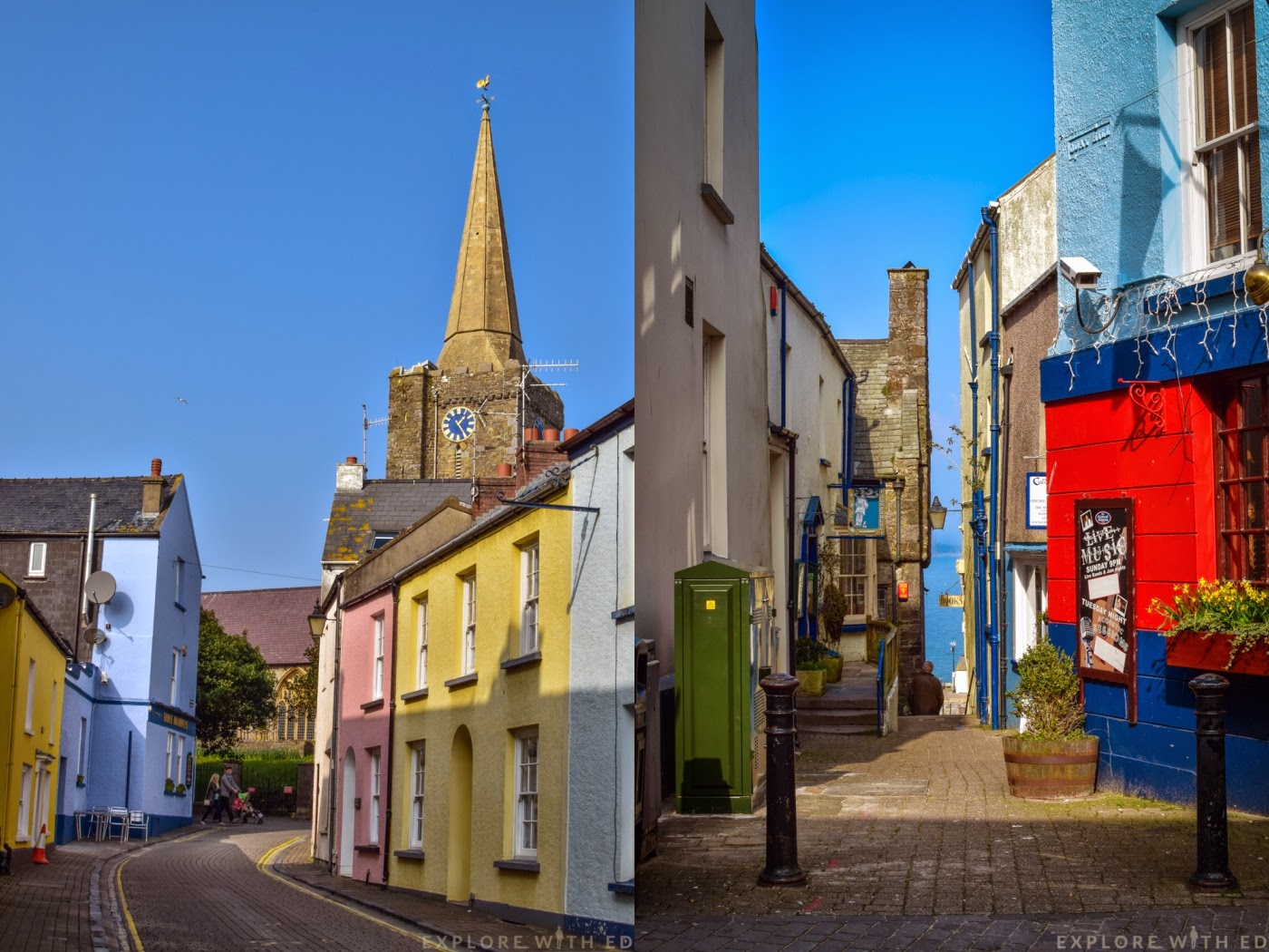 Colourful houses in Tenby