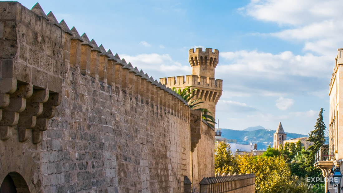 Castle fortress wall in Palma de Mallorca
