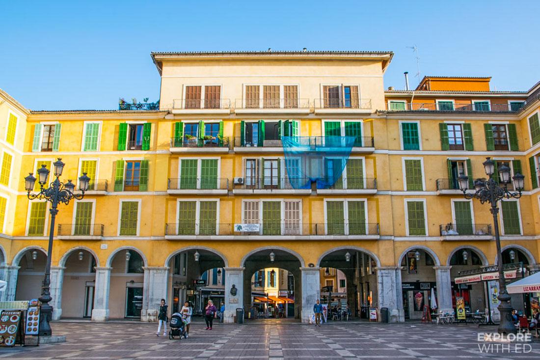 Main market square in Palma de Mallorca