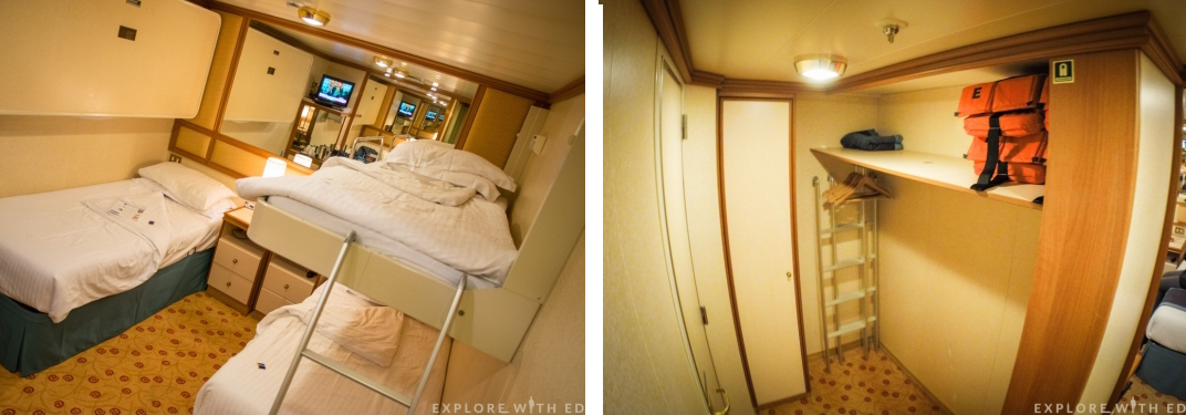 P&O Ventura four berth inside cabin