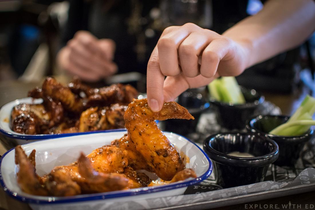BBQ Chicken Wings at The Smoke Haus Birmingham