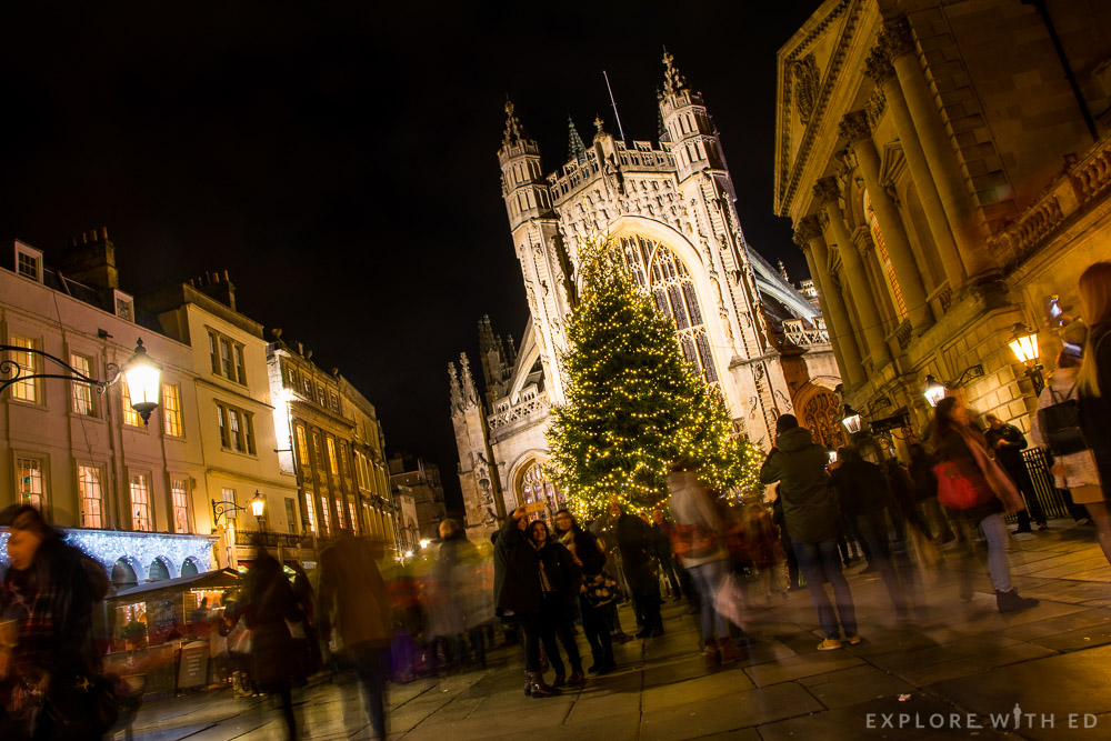 Bath Abbey at Christmastime