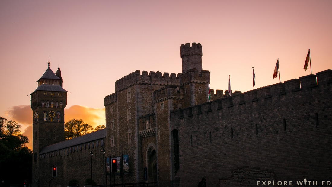 Cardiff Castle, Sunset in Cardiff