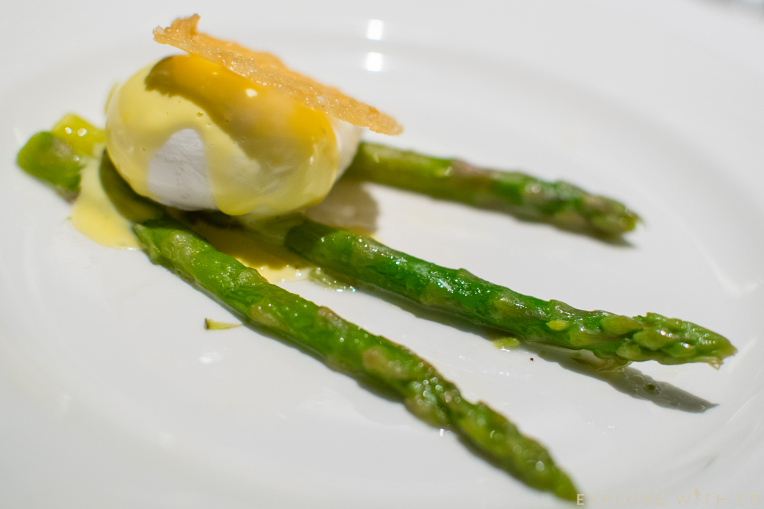 P&O Cruises Food, Poached Egg, Asparagus