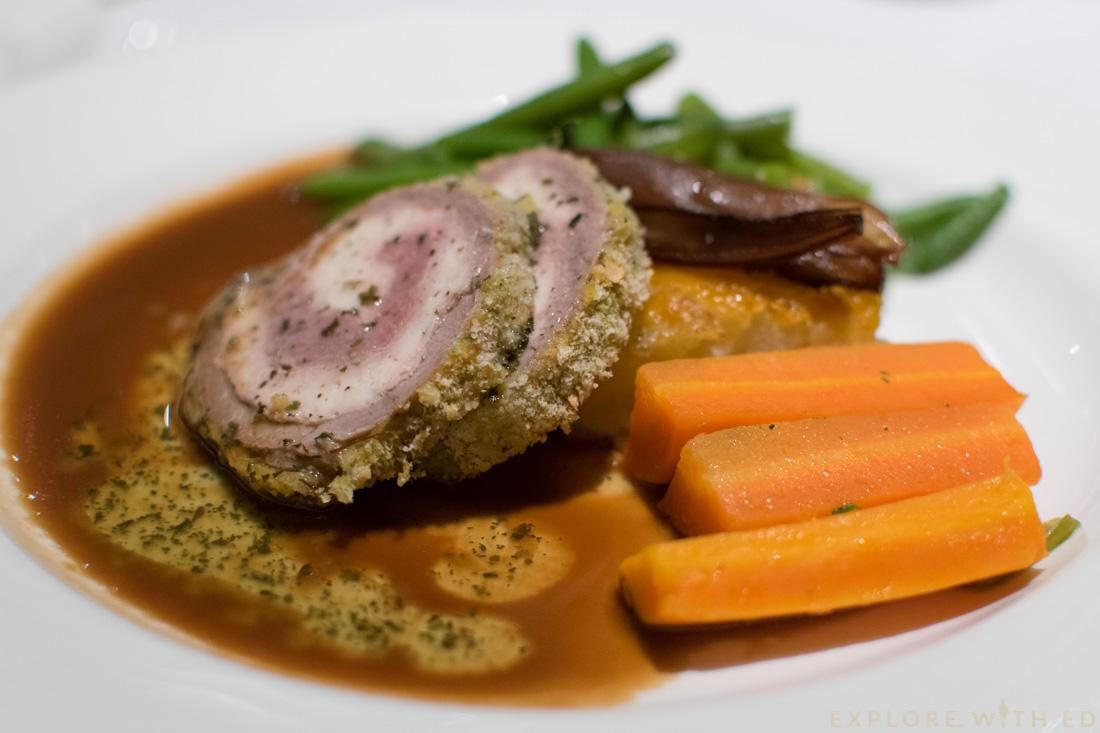 P&O Cruise Food, Lamb Dinner