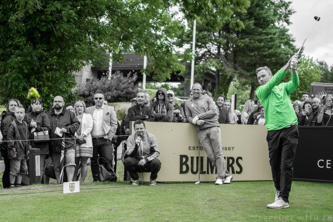 Ronan Keating playing golf at The Celtic Manor