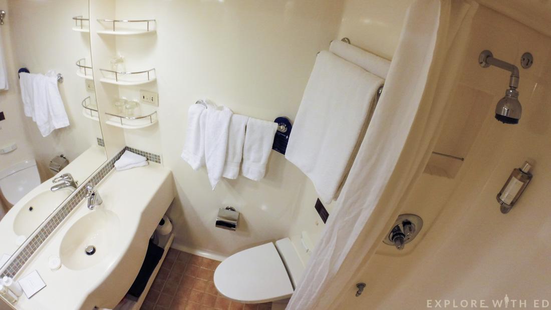 P&O Ventura Inside Cabin Bathroom