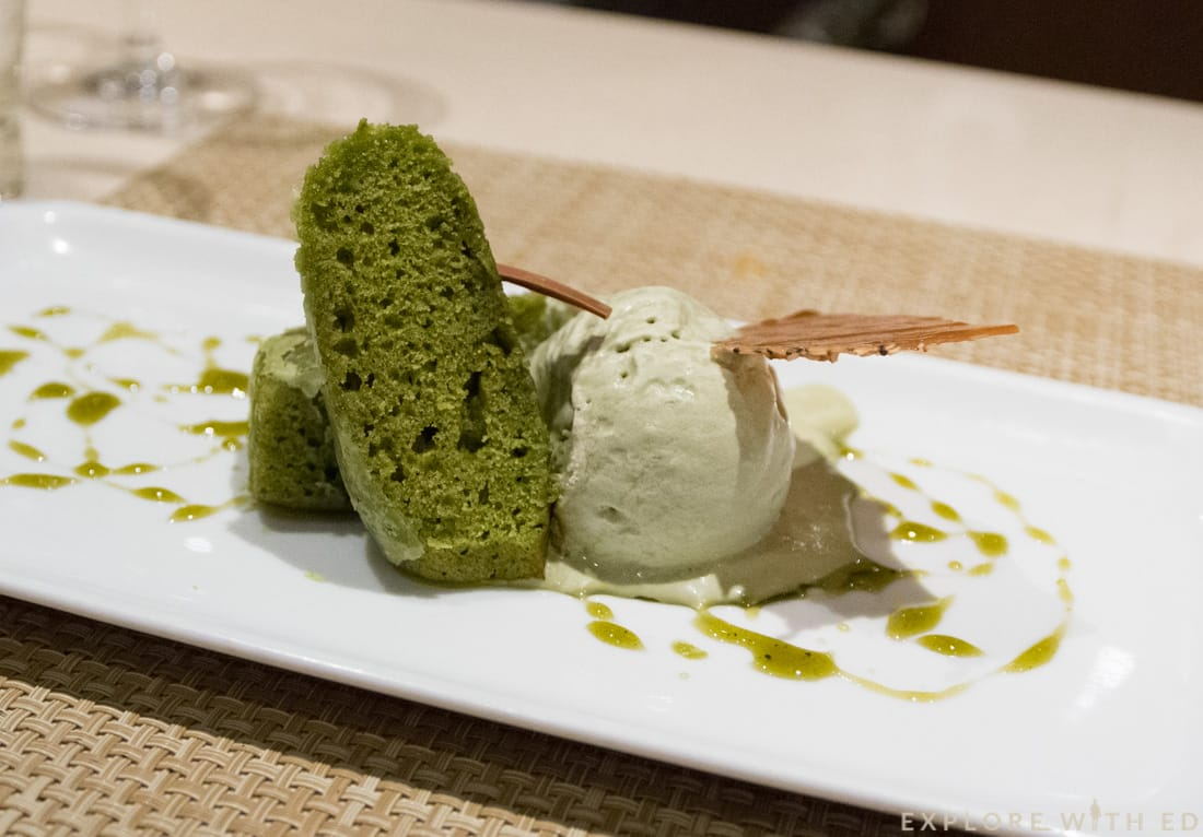 Green Tea Cake, Teppanyaki, Japanese Restaurant, Norwegian Epic