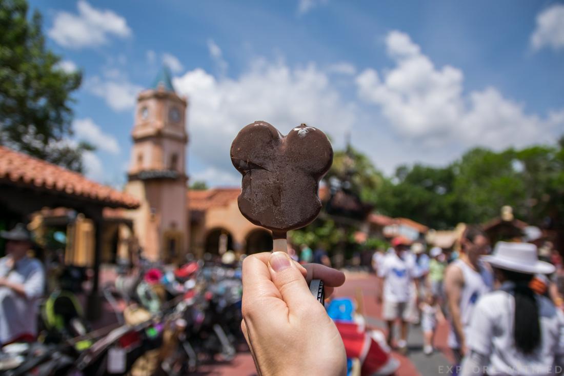 Mickey Ice Cream Bar in Magic Kingdom