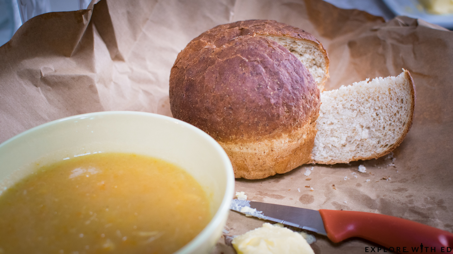 Bread, soup, The Celtic Manor